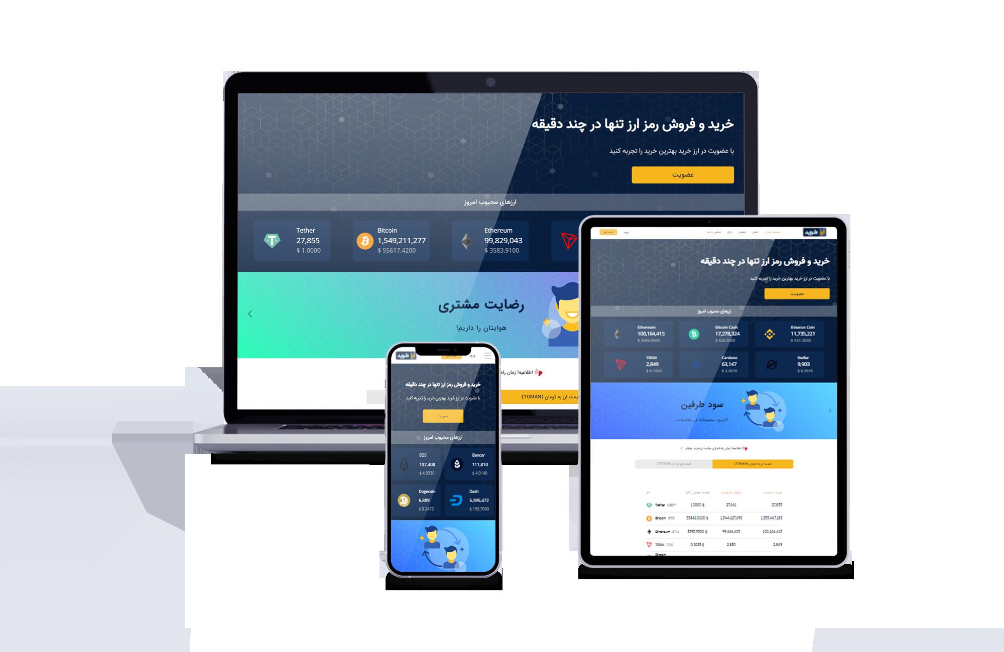 طراحی سایت ارز دیجیتال ارز خرید