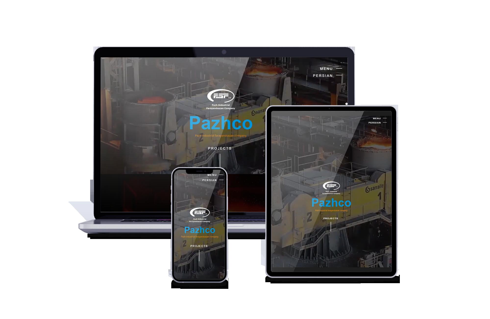 طراحی سایت شرکتی پاژکو